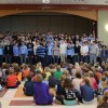Overview of the men's choir tour at Highlands Elementary. Photo by Neely Atha