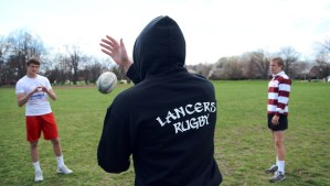 Rugby Players Join Team to Try Something New