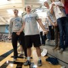 Senior Mitch Tamblyn and the rest of the student section react to the call made by the referee. Photo by Joseph Cline.