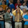 Tension was high in the East student section as the clock ran down. Photo by James Wooldridge