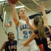 Point Guard Claire Long goes up for a layup. Photo by Callie McPhail