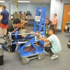 Students work on the Roboy