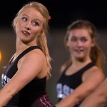 Varsity Lancer Dancer and junior Annie Smith performs.