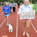 Junior Mazie Brooke leads the small dog category during the Dog Dash. Photo by Morgan Browning.