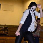"Senior Elsa Burnauer dances to ""Teach Me How to Dougie"" in her skeleton costume. Photo by Diana Percy"