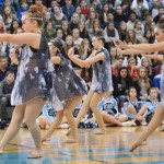 Junior Bailey Riecker performs with the Junior Varsity Lancer Dancers. Photo by Haley Bell