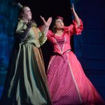 """Junior Haley Lynch, as Joy, and Sophomore Grace Chisholm, as Portia, sing """"Stepsisters Lament"""". Photo by Abby Blake"""