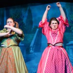 """Junior Haley Lynch and sophomore Grace Chisholm sing  """"Stepsisters' Lament."""" Photo by Haley Bell"""