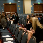 The voting delegates wait for the candidates to give their speeches. Photo by Claire Pottenger