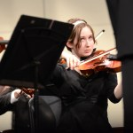 Senior Ellie Stewart-Jones plays the violin in the symphony orchestra. Photo by Ellie Thoma