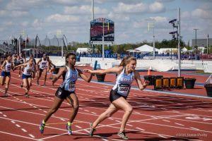 Girls' Track 4x1 Breaks School Record