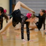 Freshman and JV Lancer Dancer, Lauren Decker, dances during the freshman pep rally. Photo by Maddie Smiley