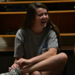Junior Katie Hise chuckles at her fellow student council members. Photo by Morgan Plunkett