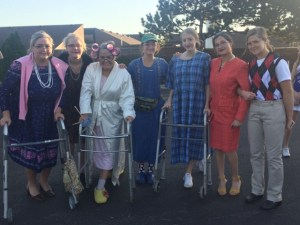 Cheerleaders Participate in Annual Scavenger Hunt