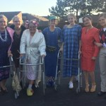 Senior Elyse Chinook's family – who won – dressed up as old people, complete with walkers.
