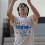 Sophomore David Murrell goes up for a shot. Photo by Kaitlyn Stratman