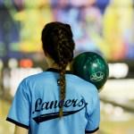 Sophomore Emma Vossler prepares to take her shot. Photo by Luke Hoffman