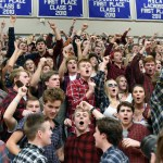 The student Section goes wild as East wins the game. Photo by Ellie Thoma