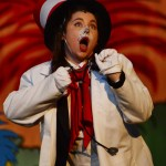 Junior Grace Chisholm plays the Cat in the Hat in SME's winter musical Seussical. Photo by Ellen Swanson