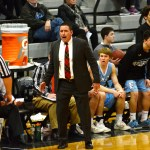 Coach Shawn Hair reacts to a call by the referee. Photo by Luke Hoffman