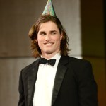 Senior Clayton Phillips is unexpectedly brought up onstage to celebrate his 18th birthday. Photo by Luke Hoffman