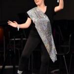 "Freshman Josilynn Arendale dances to ""Salaam E Ishq"" during the Bollywood Dance Club's performance. Photo by Laini Reynolds"