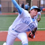 Senior Luke Anderson threw nine strikeouts and picked up the 13-0 win. Photo by Izzy Zanone