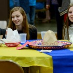 Freshmen attend the Amigos Mexican lunch to support their friends. Photo by Luke Hoffman