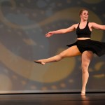 Senior Anna Dierks executes her turn sequence during her senior solo dance. Photo by Lucy Morantz