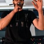 Teacher David Muhammad unexpectedly freestyle raps. Photo by Lucy Morantz