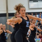Senior Toni Englund performs with the Varsity Lancer Dancers. Photo by Ally Griffith