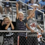 Future Lancers cheer on the team from the stand. Photo by Diana Percy