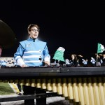 Junior Sam Sokoloff looks up determinedly from his instrument. Photo by Diana Percy