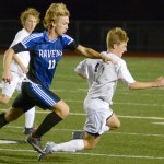 Junior Cooper Holmes fights for the ball. Photo by Luke Hoffman