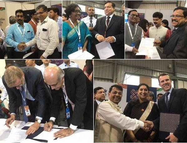 MoUs signed at Textiles India 2017