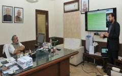 Giriraj Singh reviewing PMEGP findings
