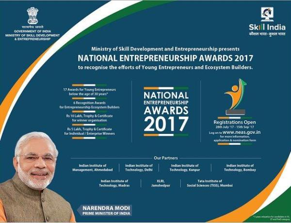National Entrepreneurship Awards 2017