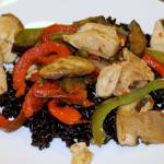 Pepper and Chicken Stir-Fry with Forbidden Rice