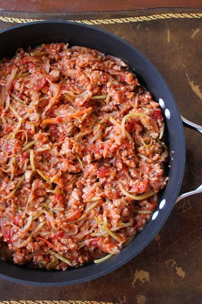 Lightened Up One Pan Cabbage Skillet