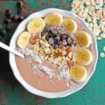 Peanut Butter Chocolate Protein Smoothie Bowl with Vega Clean