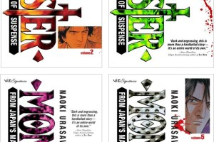 Monster (vols. 2-5) by Naoki Urasawa, English adaptation by Agnes Yoshida, translated by Satch Watanabe (vol. 2), Masaru Noma (vol. 3), Hiroki Shirota (vol. 4), and Hirotaka Kakiya (vol. 5)