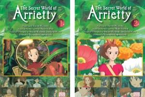 The Secret World of Arrietty (vols. 1-2) planning by Hayao Miyazaki, based on The Borrowers by Mary Norton, translated Rieko Izutsu-Vajirasarn and Jim Hubbert