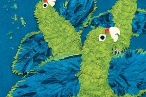 Parrots Over Puerto Rico by Susan L. Roth and Cindy Trumbore, illustrated by Susan L. Roth