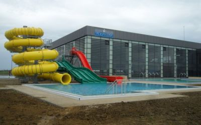 Aquapark-ul AquaStar a fost inaugurat. Vedeti cand are loc deschiderea oficiala