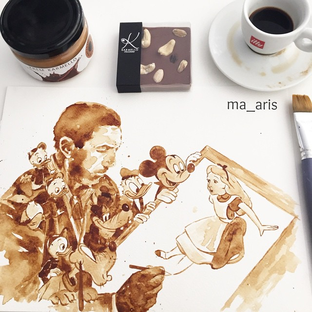 Kaffee Malereien by Maria Aristidou