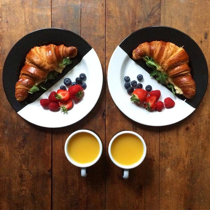 Symmetrisches Frühstück jeden Morgen? Nur für beste Freunde!
