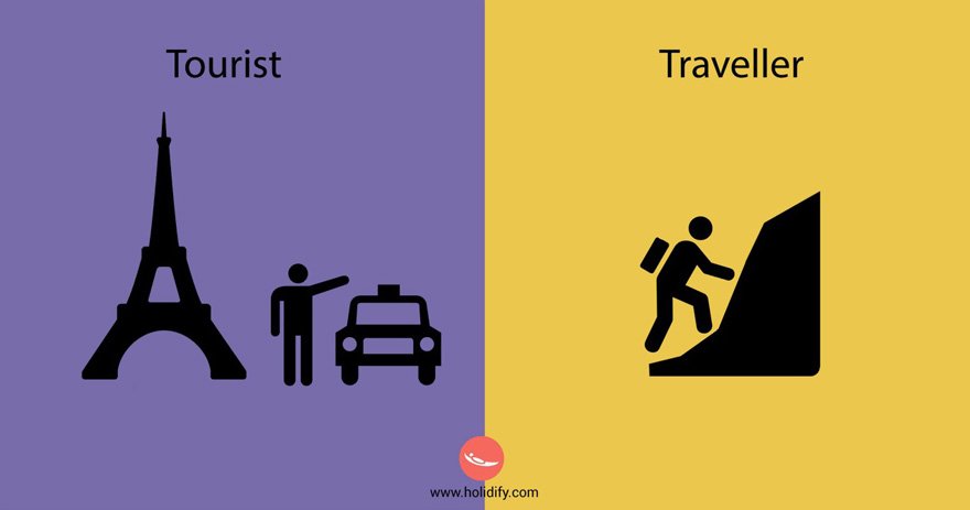 Unterschied-Tourist-Reisender (4)