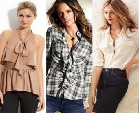 Красивые девушки в блузках