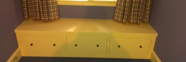 Storage Bench Seats in Window Alcoves