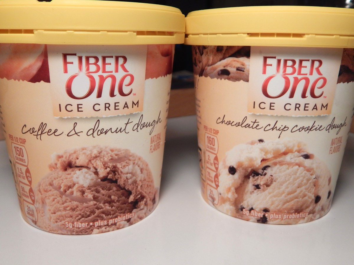 [2-Pack Review] Fiber One Coffee & Donut Dough and Chocolate Chip Cookie Dough Ice Cream